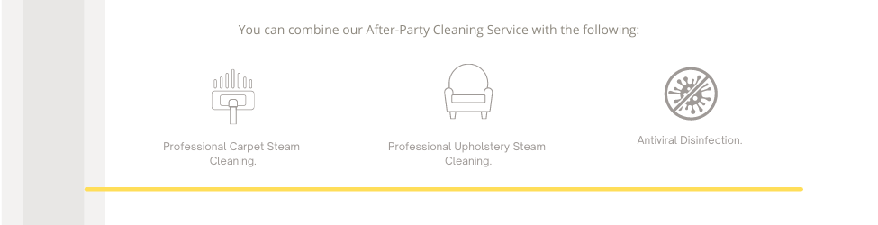 after party cleaning additional services